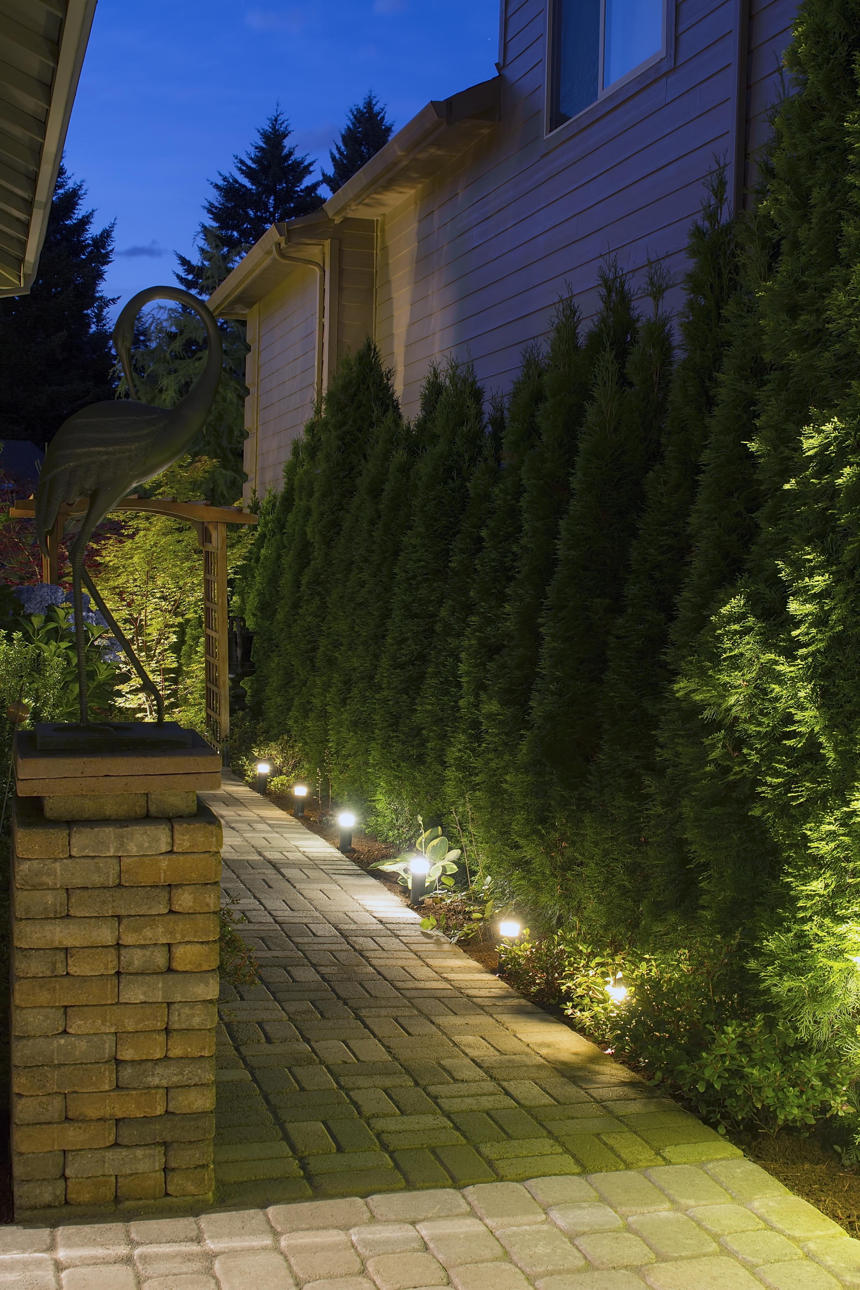 Backyard Garden Path Lighting Night Prime Electrical